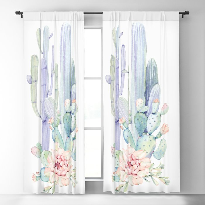 Mixed Cacti 2 #society6 #buyart Blackout Curtain