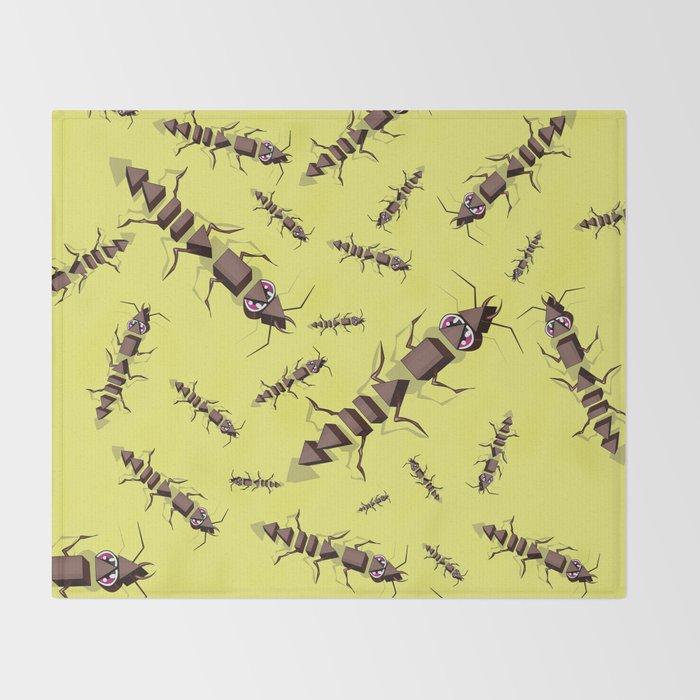 Ants erase and rewind Throw Blanket