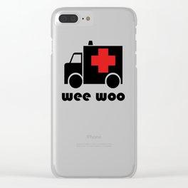 Ambulance Wee Woo Clear iPhone Case