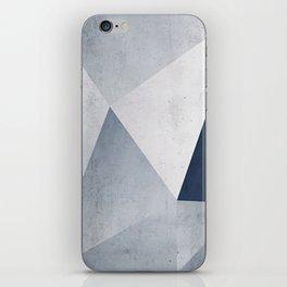 Indigo Minimal Geometry iPhone Skin