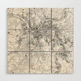 Pittsburgh White Map Wood Wall Art