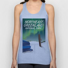 Northeast Greenland National park travel poster Unisex Tank Top