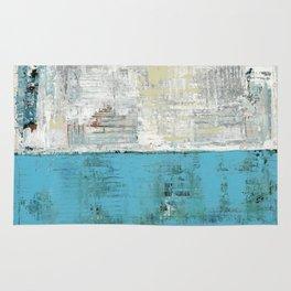 Fairbanks Abstract Light Blue White Rug