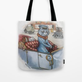 Louis Wain - The Cat Chauffeur Tote Bag
