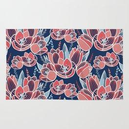 Papercut tulips Rug