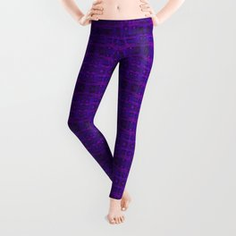 Ultra-Violet Weave, abstract pattern Leggings