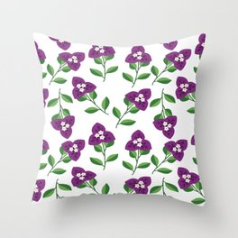 Bogenvil Yu Stail Flawa Throw Pillow