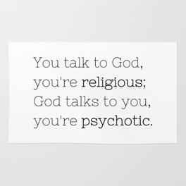 You're psychotic - House MD - TV Show Collection Rug