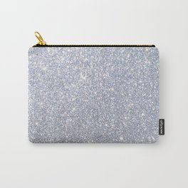 Silver Metallic Sparkly Glitter Carry-All Pouch