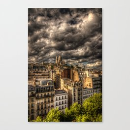 Storm over Montmartre with Sacre Coeur Canvas Print