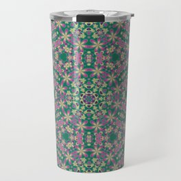 YELLO! Pink Flowers On The Lawn Travel Mug