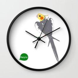 HAPPY COCKATIEL BIRD NORMAL  Wall Clock