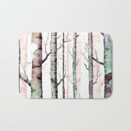 Birch Tree Forest Bath Mat