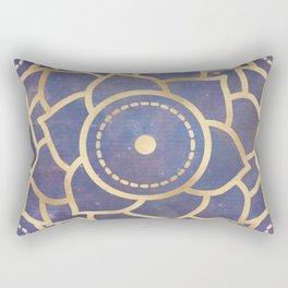 Mandala Chakra Copper and Purple Crown Chakra Rectangular Pillow