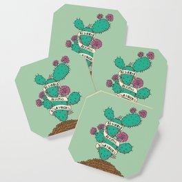 Ni Santas, Ni Putas, Solo Mujeres Gallery Print Coaster