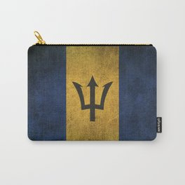 Old and Worn Distressed Vintage Flag of Barbados Carry-All Pouch