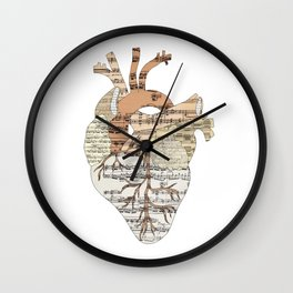 Sound Of My Heart (on white) Wall Clock