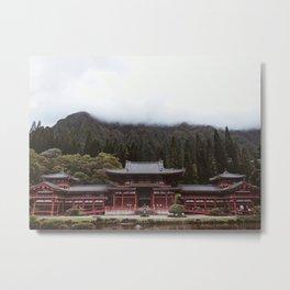 Byodo-In Temple Metal Print