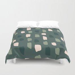 Paintbrush Green Rose Duvet Cover