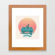 Here comes the summer Framed Art Print