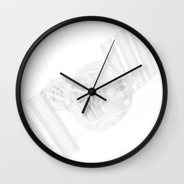 Explorer White and Grey Wall Clock
