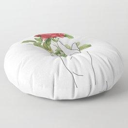 Flower in the Hand Floor Pillow