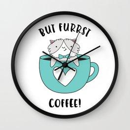 But Furrst Coffee Wall Clock