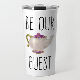 Be our Guest Hand painted teapot hand print Travel Mug