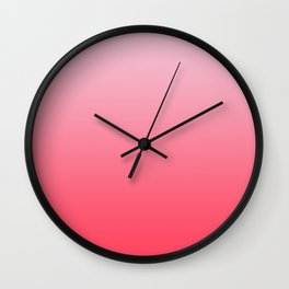Ombre Pink Rose Gradient Pattern Wall Clock