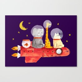 Let's All Go To Mars Canvas Print