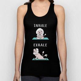 Poodle Yoga Inhale Exhale Unisex Tank Top