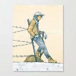 Fence Stretcher Canvas Print