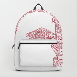 Wolf and Eagle Totem Pole Doodle Art Backpack