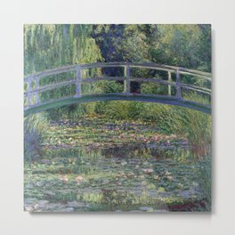 Water Lilies and the Japanese Bridge by Claude Monet Metal Print