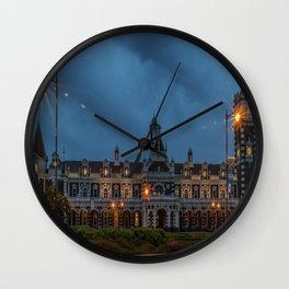 Dunedin Railway Station, New Zealand Wall Clock