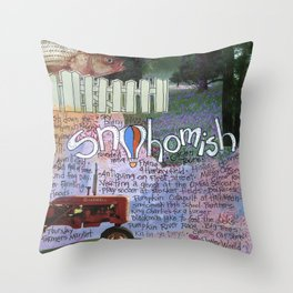Snohomish, Washington Throw Pillow