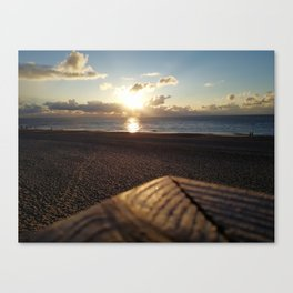 go out with the setting sun Canvas Print