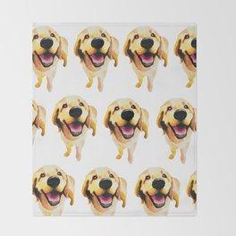 Good Boy / Yellow Labrador Retriever dog art Throw Blanket