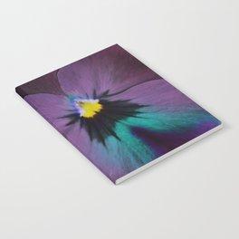 Purple viola tricolor Notebook