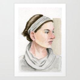 Watercolor girl III Art Print