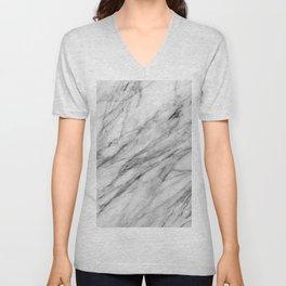 Carrara Marble Unisex V-Neck
