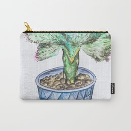 Euphorbia Lactea Cactus Carry-All Pouch