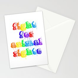 FIGHT FOR ANIMAL RIGHTS Stationery Cards