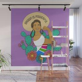 Brown is Powerful Wall Mural
