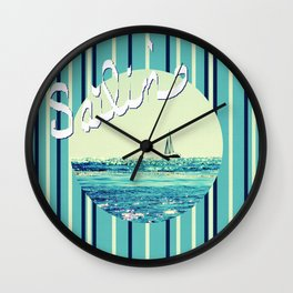 Sailin' Wall Clock