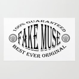 Fake Muse badge (black) Rug