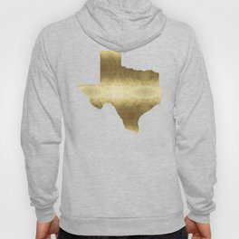 texas gold foil print state map Hoody