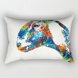 Colorful Goat Art By Sharon Cummings Rectangular Pillow