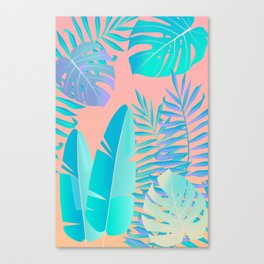 Tropics ( monstera and banana leaf pattern ) Canvas Print