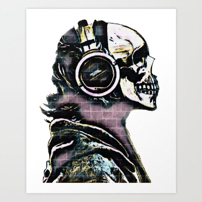 Dying Listening Art Print